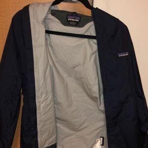 Patagonia navy blue rain jacket